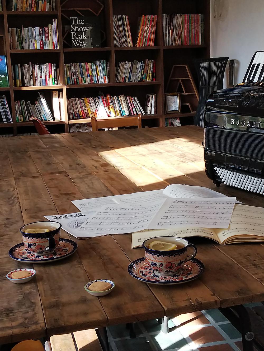 ITOYA CAFE教室でのレッスン。の後のお茶タイム!