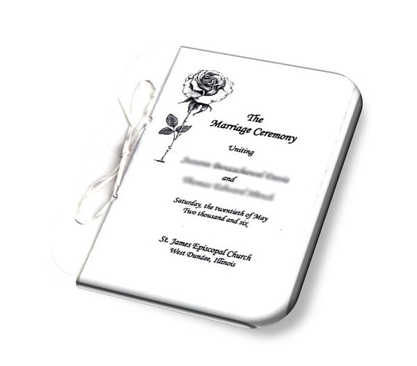 A Program of Your Ceremony for Your Guests