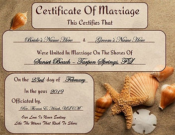 A Lovely Memento of a Beautiful Beach Wedding Ceremony