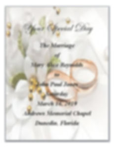 Keepsake Book of Your Ceremony Given to You After Your Wedding