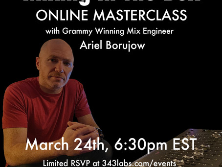 "Mixing ""In The Box"" Masterclass for 343 Labs NYC"
