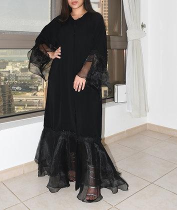 Heavenly Black Lace Abaya