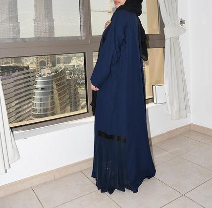 Angelic Midnight Blue Abaya