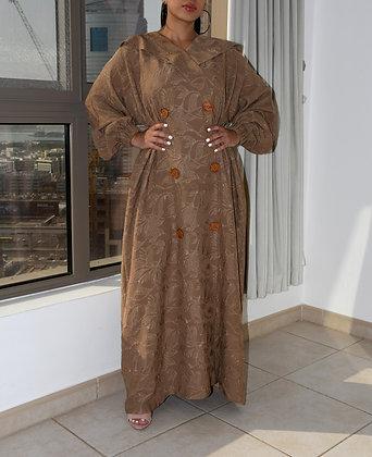 Vintage Patterned Abaya
