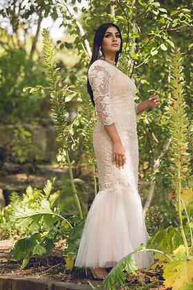 Classic Fishtail Beaded Dress