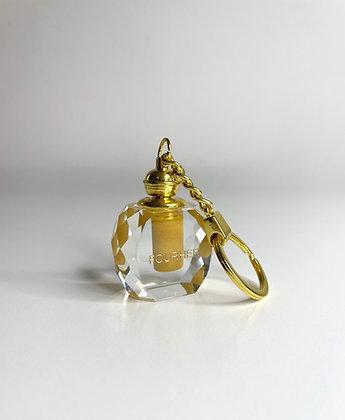 Gold Shimmer Oud crystal Keyring