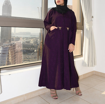 Petite Royal Violet Abaya