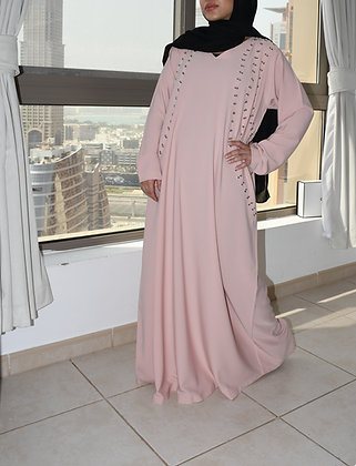 Baby Pink Dress Abaya