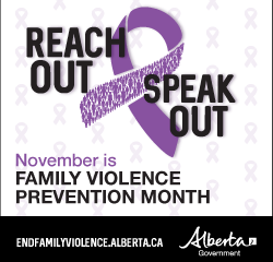 Family Violence Prevention Month is in November
