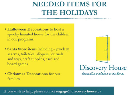 Needed Items for the Holiday Season