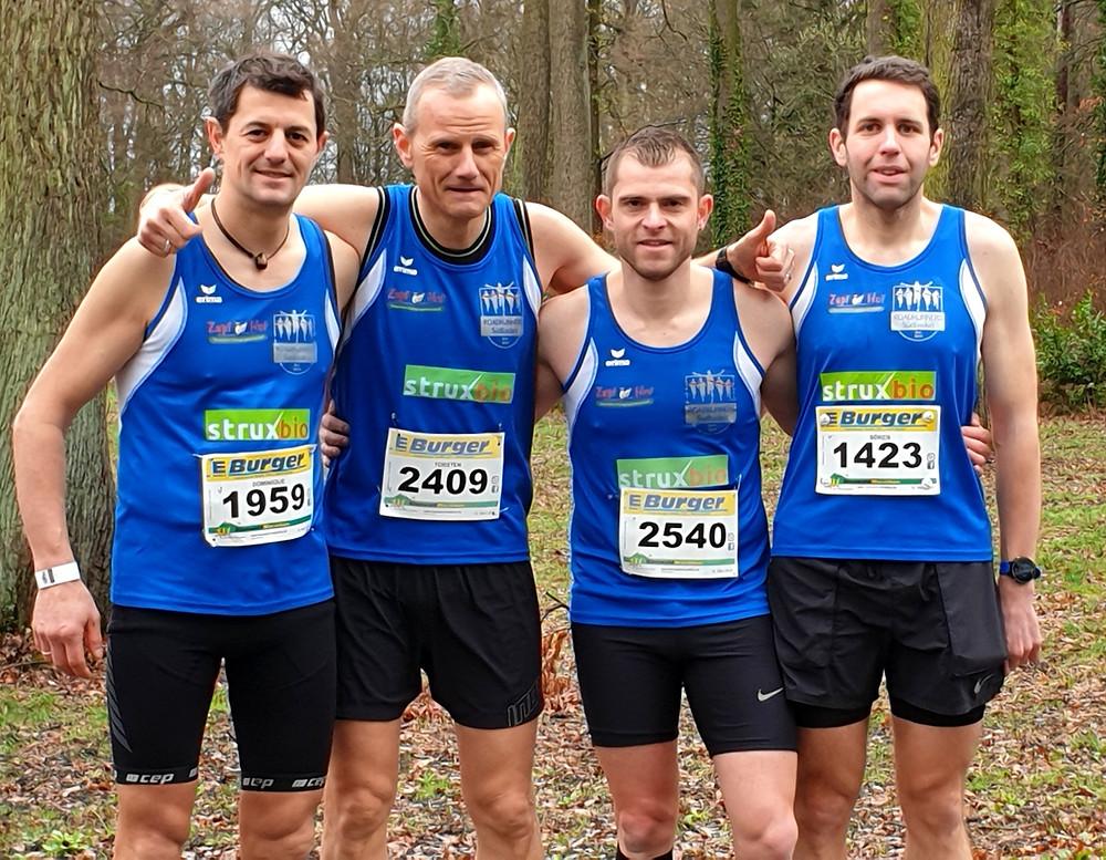 Der 44. Bienwald-Marathon verlangte nicht nur den vier Roadrunners alles ab.