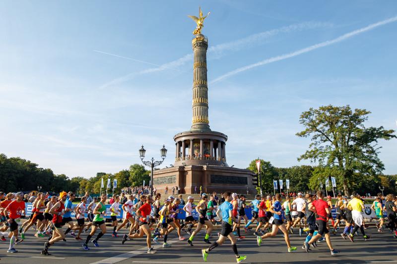 45.000 Läufer starteten beim 45. Berlin-Marathon