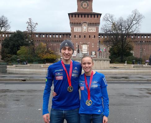 Natalie Wangler beim Milano21 als Fünfte im Ziel