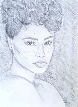 headshot, a4, no add. parts, price would be negotiated to be lower due it only be a pencil drawing