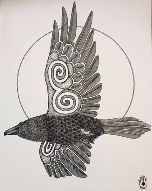 """Raven Soaring"""