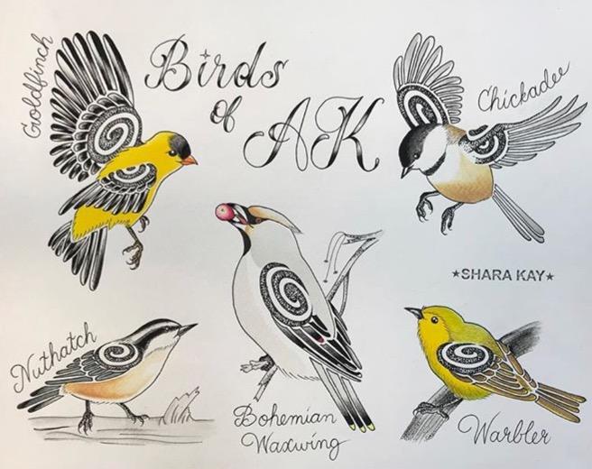 """Birds of Alaska"" series #1"