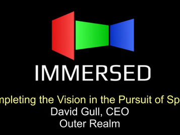 David's talks VR and Space Hotels at Immersed 2018 Conference