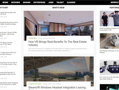 """""""How VR Brings Real Benefits To The Real Estate Industry"""" - Guest Post on UploadVR.com"""