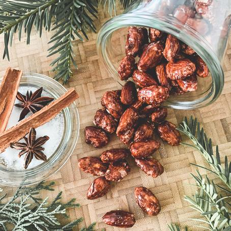 Weihnachtliche Krachmandeln mit Lebkuchengewürz.