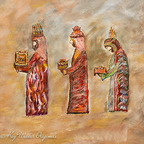 We Three Kings Gift Wrap