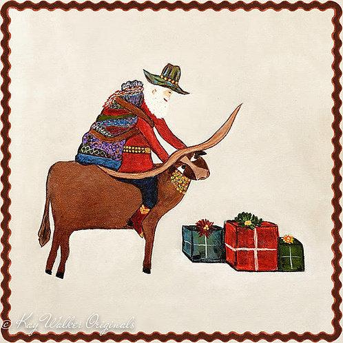 Texas Santa Gift Wrap