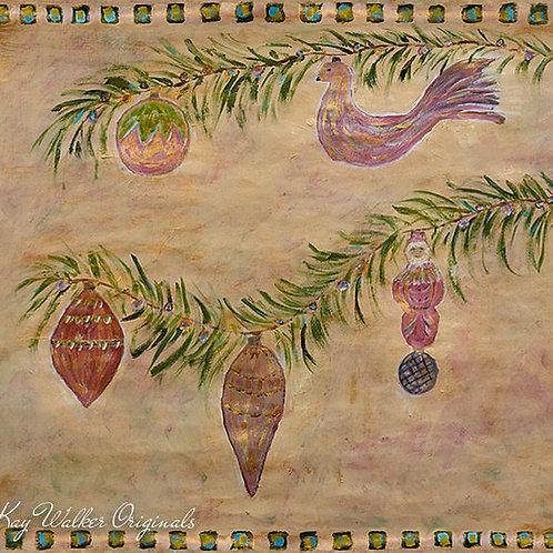 Antique Ornaments Gift Wrap