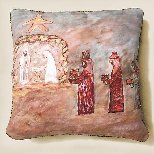 Nativity Scene Pillow