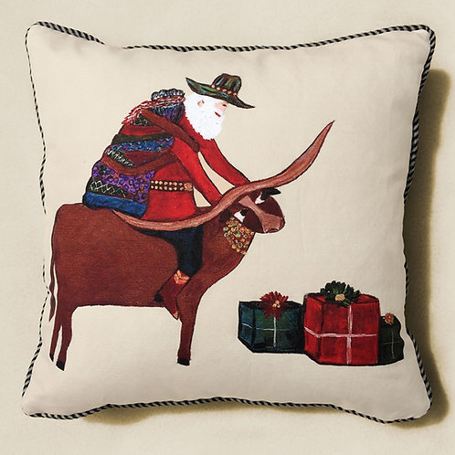 Texas Santa Pillow