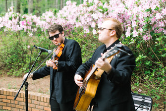 The Duo Playing at the Ceremony