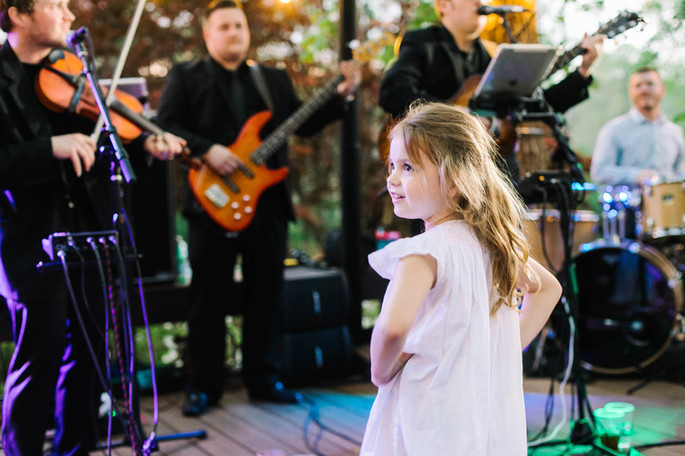 Adorable Little girl enjoying the band