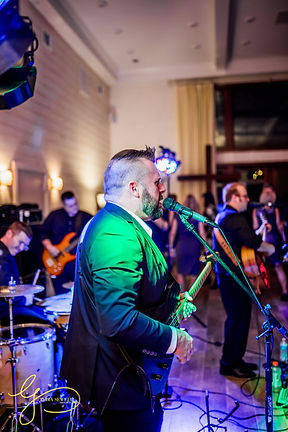 electric guitarist playing at a wedding