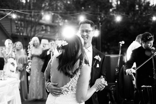 Newlyweds dacing their first dance. Georgia