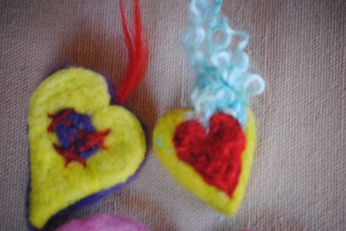 Heart - Felt Magnets