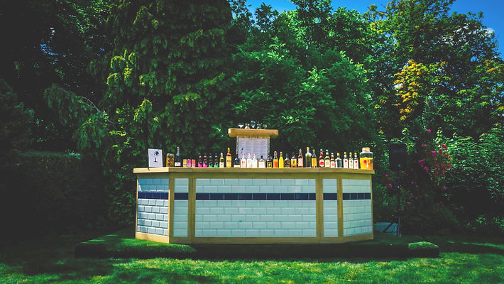 Upcycled cocktail bar