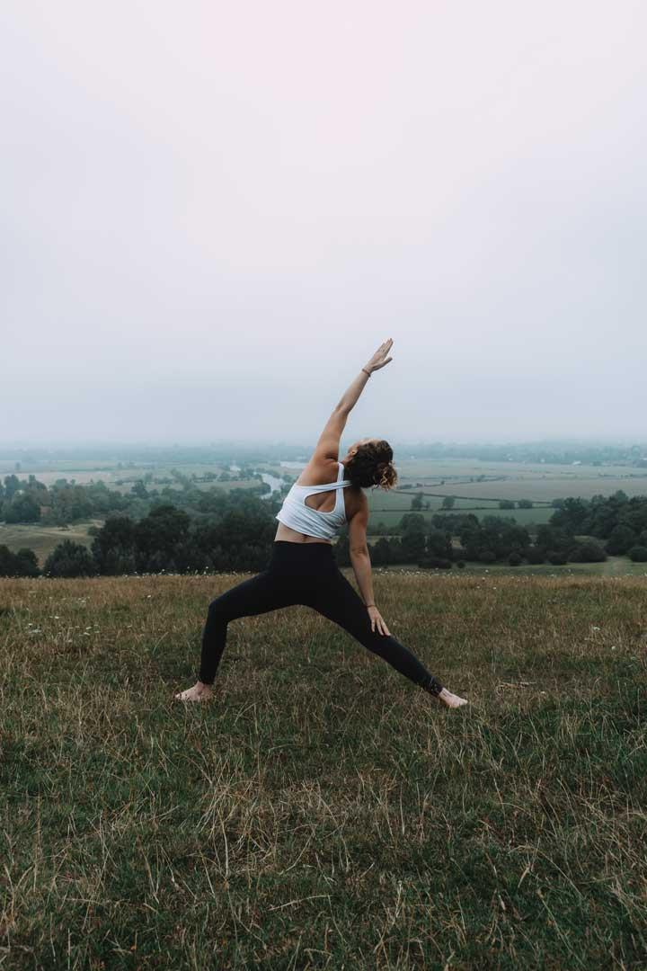Helen Soden practicing Yoga