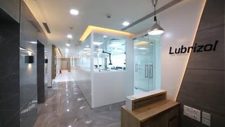 Reception area at Lubrizol office, Mumbai