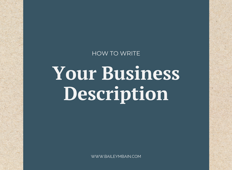 How to Write Your Business Description