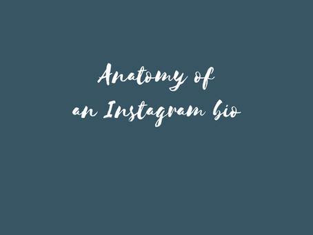 Anatomy of an Instagram Bio