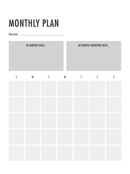 Social Media Self Care Planner Interiors