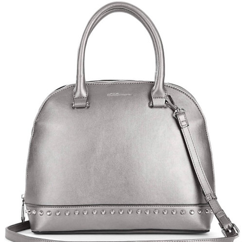Women's Poppy Studded Dome Bag, Pewter by BCBGeneration