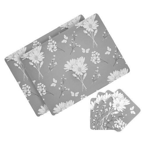 Floral Placemat and Coaster set – Set of 6