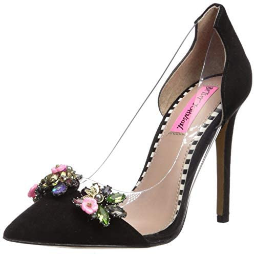 Jane Lucite Pumps US Size 5, Black by Betsey Johnson