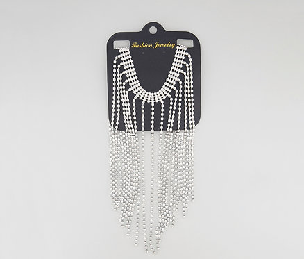 Crystal Statement Necklace, Silver by Bebe