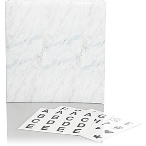 Marble Print Sticker Personalisation Photo Album