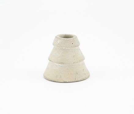 Layered Candle Holder Cement, Grey by KJ Collection