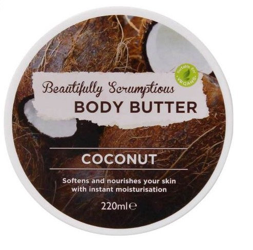 Body Butter Coconut 220ml – Beautifully Scrumptious