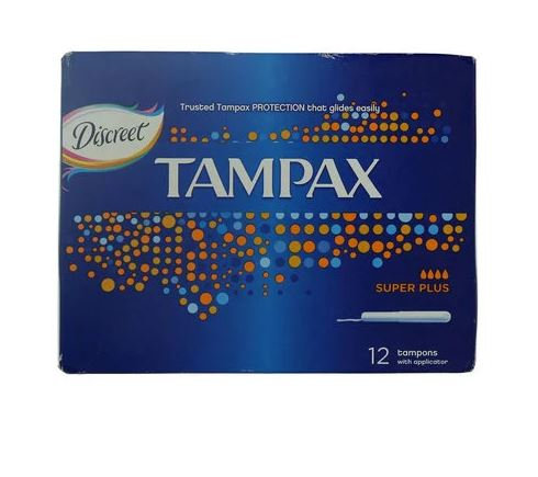Discreet Tampons Super Plus, 12-Piece – Tampax