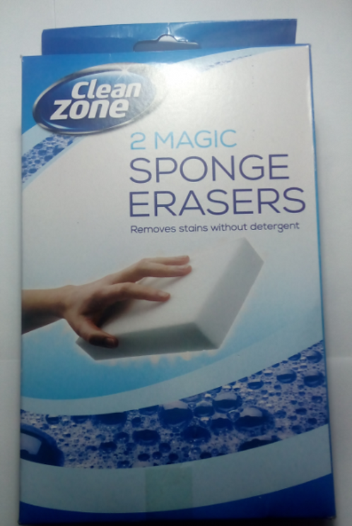 Clean Zone – Magic Sponge Eraser 2 Pack