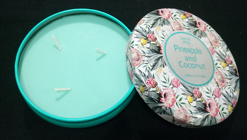 Pineapple & Coconut Large 3-Wick Candle In Toucan Tin