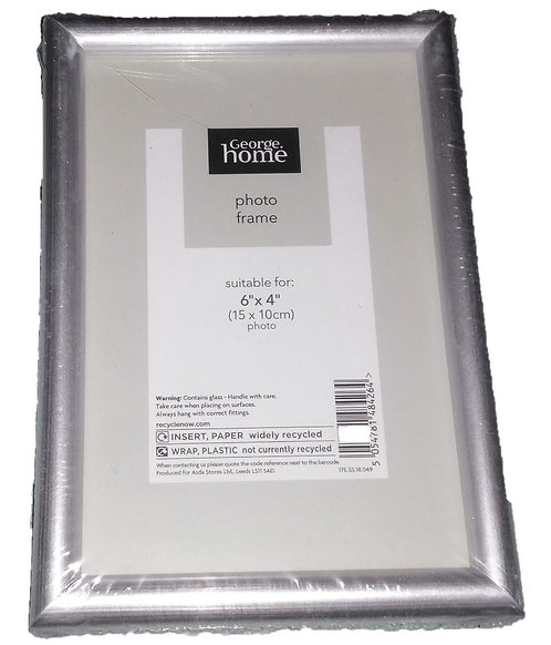 Silver Frame 6″ x 4″, George Home